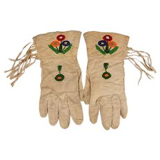 Pr. of Shoshone Women's Ceremonial Gauntlet Gloves