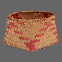 Native American River Cane Woven Basket