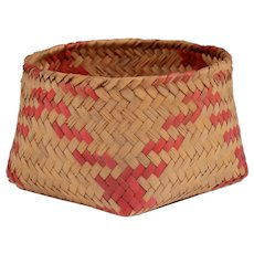 Native American River Cane Woven Basket