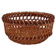 Native American Cane Woven Small Basket