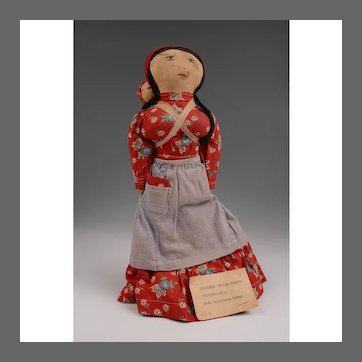 Cherokee Hand Made Cloth Doll With Papoose