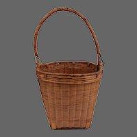 Native American Basket With Handle