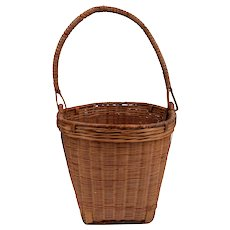 Native American Basket With Handle