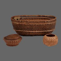 Collection of 3 Native American Baskets