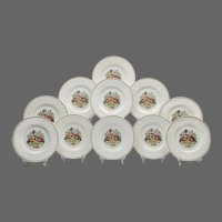 Set of 11 Wedgwood Windermere Dinner Plates