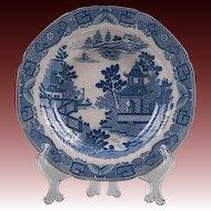 1800-10 Davenport Chinoiserie Bridgeless Blue & White Transferware Bowl
