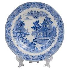 Davenport Bridgeless Chinoiserie Transferware Bowl, 1800