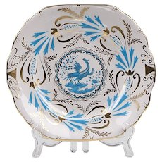 Royal Chelsea Turquoise Bird of Paradise, 3800a, Square Cake Plate