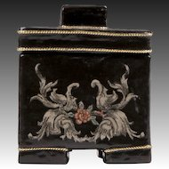 Small Chinese Lacquered Box With Cover