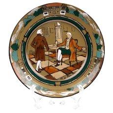 Deldare Ware Buffalo Pottery Plate, At Ye Lion Inn
