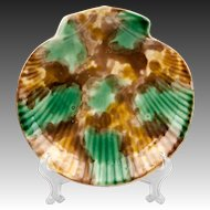 19th C. English Majolica Nautilus Shell Plate