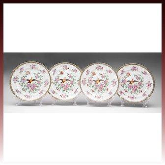 Set of Four Devon Ware Old Bow Pheasant Dinner Plates