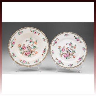 English Wheildon Ware Co., Pheasant Pattern, Bowl & Plate