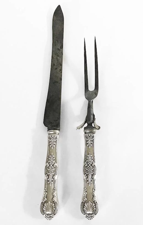 aa58170eeafcd Tiffany & Co. Sterling Handle Carving Set, English King