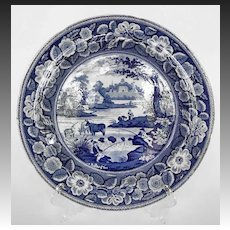 English John Meir Blue & White Transferware Plate