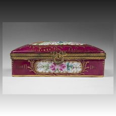 Decor Main French Hand Painted Hinged Box