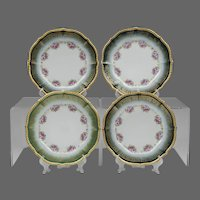 Set of 4 Elite Limoges Luncheon Plates