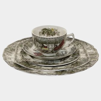 The Friendly Village Dinnerware Five Piece Place Setting