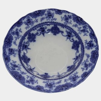 Beautiful Flow Blue salad bowl Norah Trac T. Rathbone & c/1800's