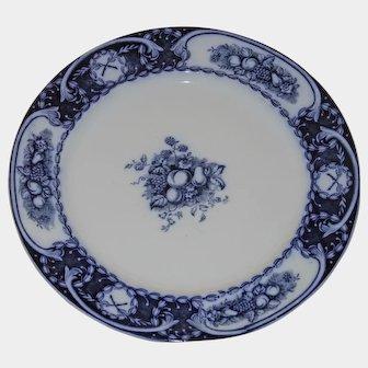 Made in England Flow Blue dinner plate Berkeley