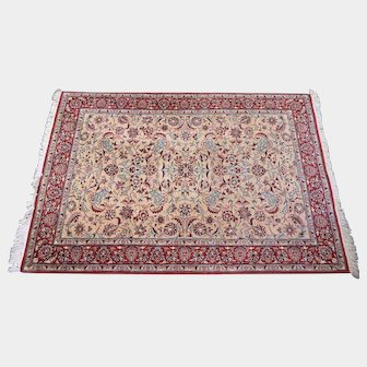 Persian Hand -Knotted Keshan 100% Kashmir Wool Rug
