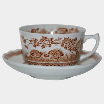 Furnivals Quail cup & saucer, made in England