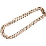 Art Deco Era Multi Strand Pull Chain Necklace Gold Tone
