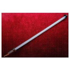 Fabulous 19th Century Striped Glass Hand-Dip Pen