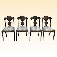 Set of  Victorian Dark Mahogany Chairs-Paine Furniture Co. Boston