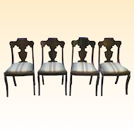 Set of  Victorian Dark Mahogany Chairs-Paine Furniture Co. Boston