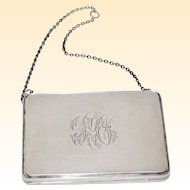 Sterling Silver Antique Chatelaine Evening Purse Birmingham Hallmarked WGS & Co.
