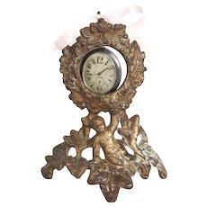 Victorian Gilded Iron Pocket Watch Holder Circa 1875