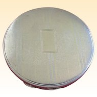 Art Deco 1920's Antique Sterling Silver Hallmarked Round Compact