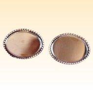 Signed Avon Gold-Filled Oval Vintage Cufflinks