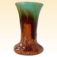 Fabulous Vintage Glazed Majolica Ceramic Garden Pedestal