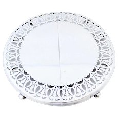 Vintage Openwork Design Silverplate Expandable Trivet