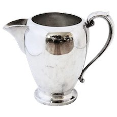 Beautiful Vintage Silver Hallmarked Art S Co. Pitcher