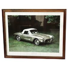 1962 Vintage Classic Corvette Power Graphics First Edition Framed Print