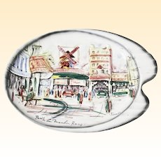 Paris Le Moulin Rouge Vintage Ceramic Hallmarked Plate by Renee