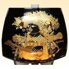 Bjorn Wiinblad Mid-Century Rosenthal Studios Quatre Couleurs Porcelain Plate