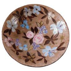 Hand-Painted Floral Vintage Porcelain Bowl