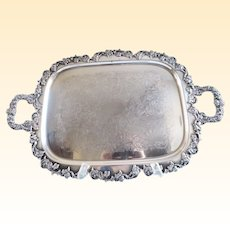 Gorham Silverplate Antique Waiters Serving Tray