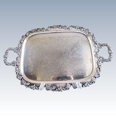 Gorham Silverplate Antique Waiters Tray