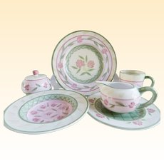 Vintage Bella Ceramica Service for Eight Tuscan Dinnerware
