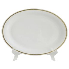 White Porcelain Tirschenreuth Dek Hackefors Swedish Platter