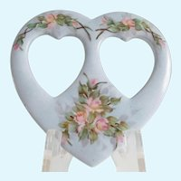 Limoges Porcelain Heart Picture Frame A.K. France