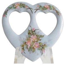 A.K. France Limoges Porcelain Heart Picture Frame