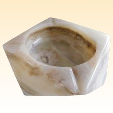 Cream Onyx Mid Century Ash Receiver/Ash Tray