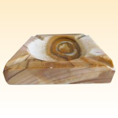 Mid Century Mexican Onyx/Stone Ash Tray/Ash Receiver
