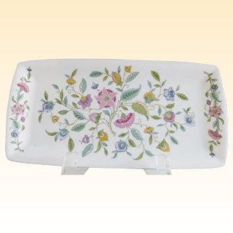 Minton Vintage Floral Chintz English Porcelain Tray